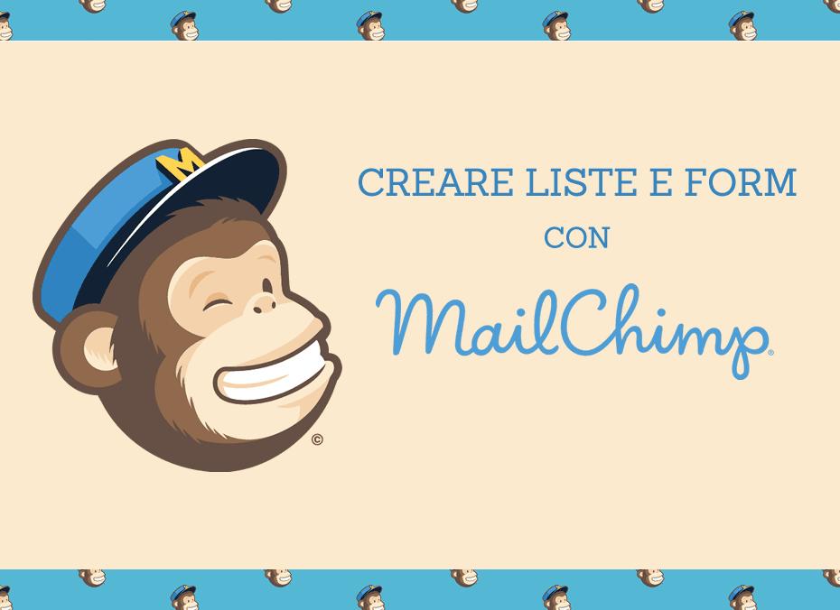 Creare una lista e un form con mailchimp yunikon design for Creare design