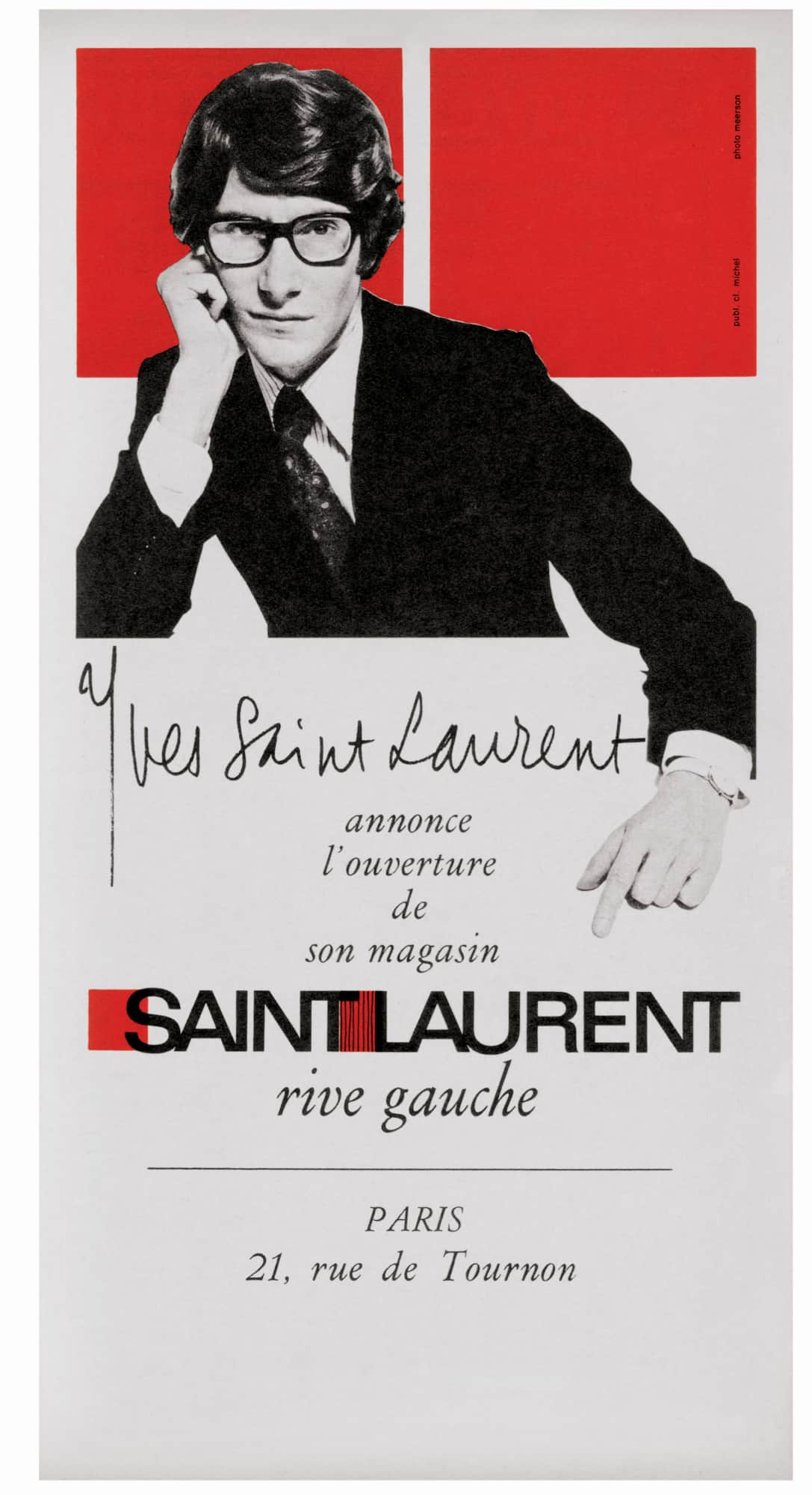 SAINT LAURENT rive gauche logo del 1966