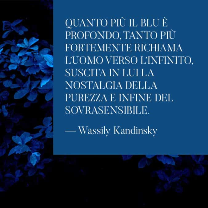 Quote classic blue Kandinsky