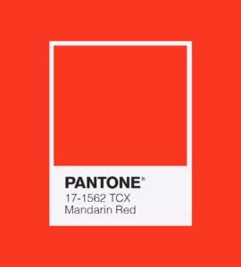 PANTONE 17-1562 Mandarin Red