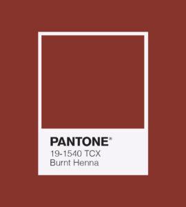 PANTONE 19-1540 Burnt Henna